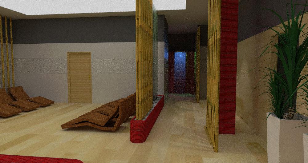 Projekt sauny z leżakami w Gaca System