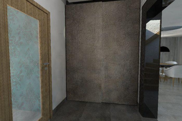 Projekt koncepcyjny sieni w stylu loft