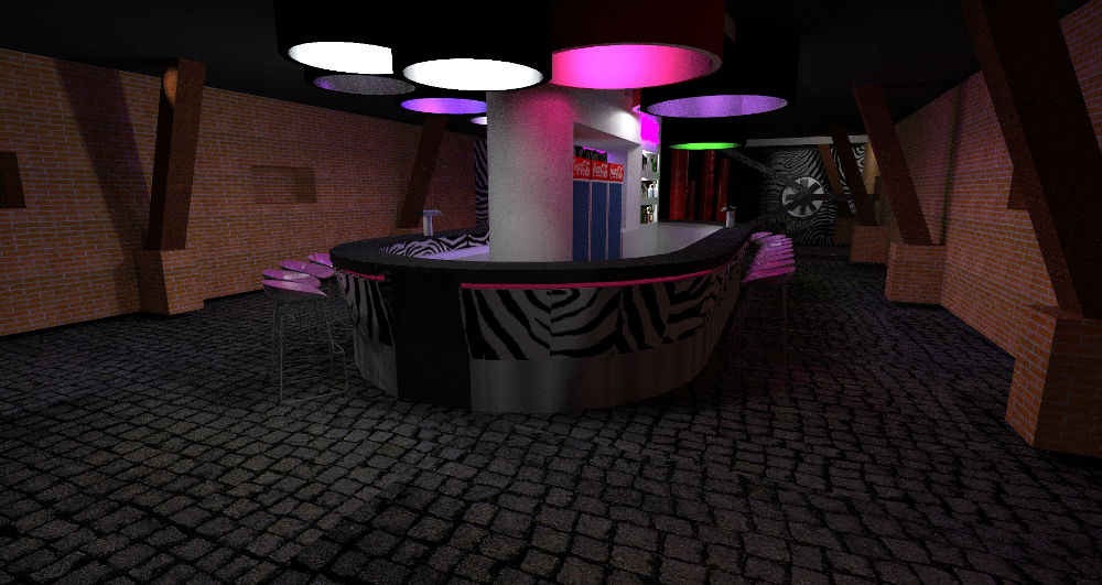 Projekt baru w klubie nocnym