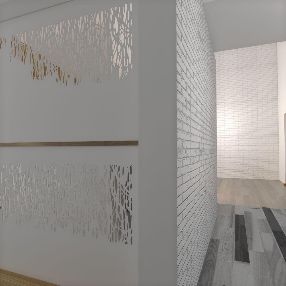 Projekt koncepcyjny sieni w stylu nowoczesnym