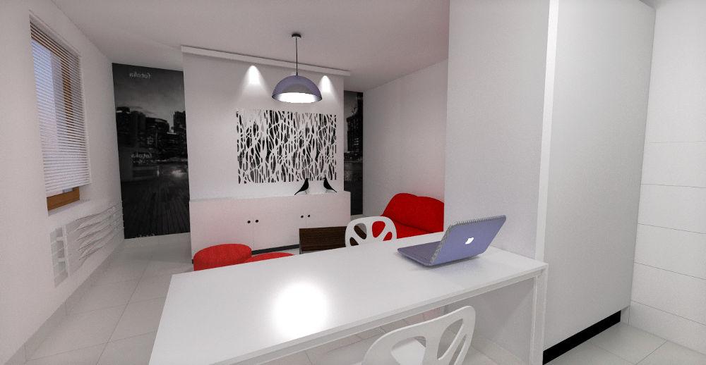 Projekt salonu, kuchni i jadalni