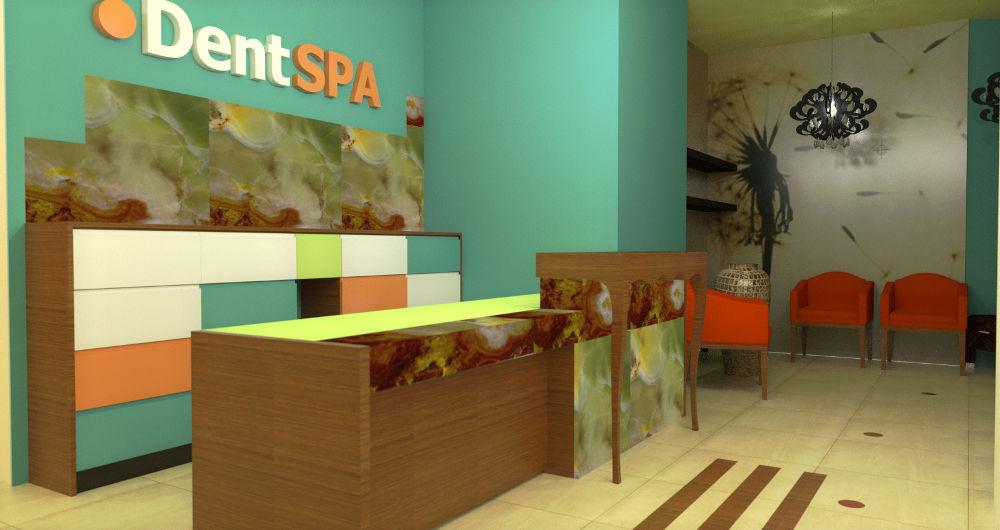 Projekt recepcji w gabinecie dentystycznym