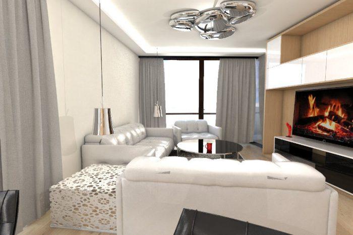 Projekt koncepcyjny nowoczesnego salonu