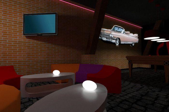 Projekt koncepcyjny klubu nocnego ze strefą vip
