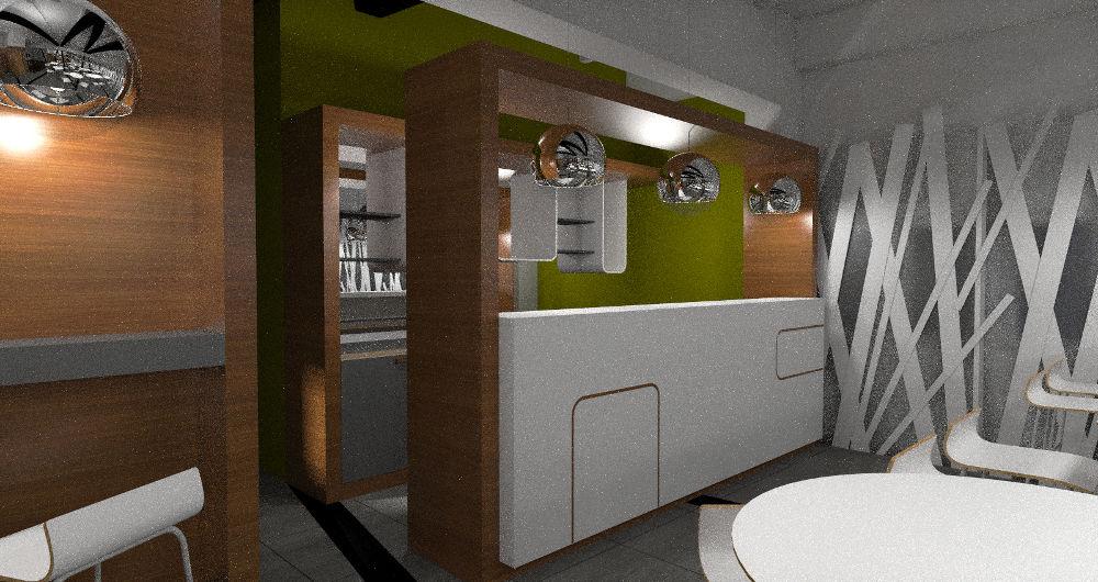 Projekt baru w lokalu gastronomicznym